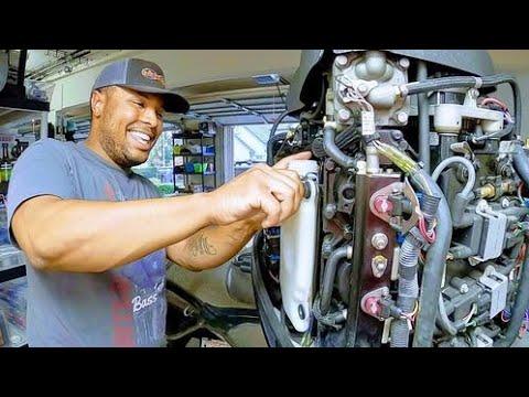 Mercury optimax engine oil reservoir replacement
