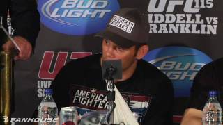 UFC 115: Rich Franklin Uncomfortable With Thought of Ending Chuck Liddell