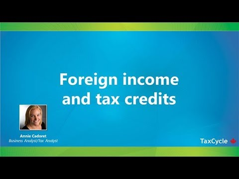 Foreign Income And Tax Credits - Webinar From March 27, 2018