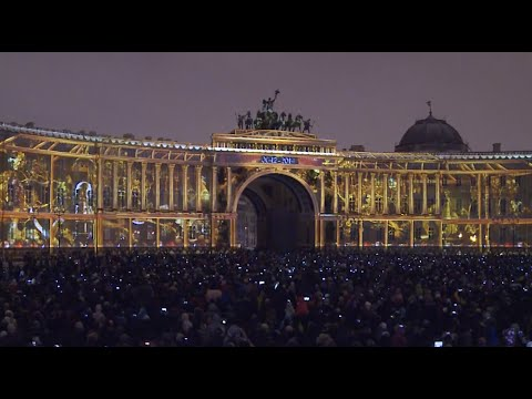 250 yrs of Hermitage: Stunning 3D show projected onto biggest Russian museum