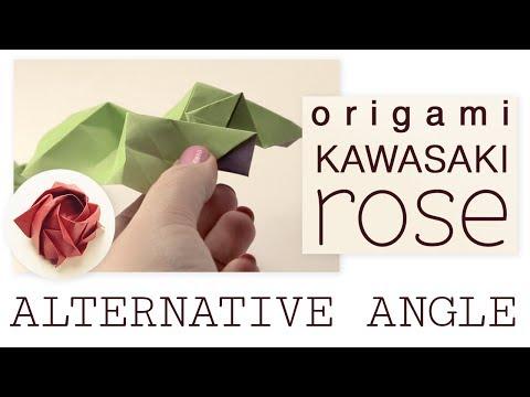 Origami Kawasaki Rose by Toshikazu Kawasaki - YouTube | 360x480