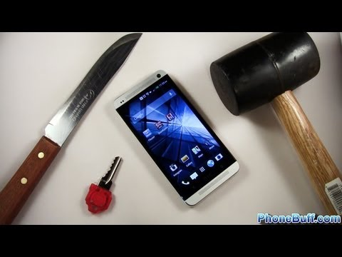 HTC One Hammer & Knife Scratch Test