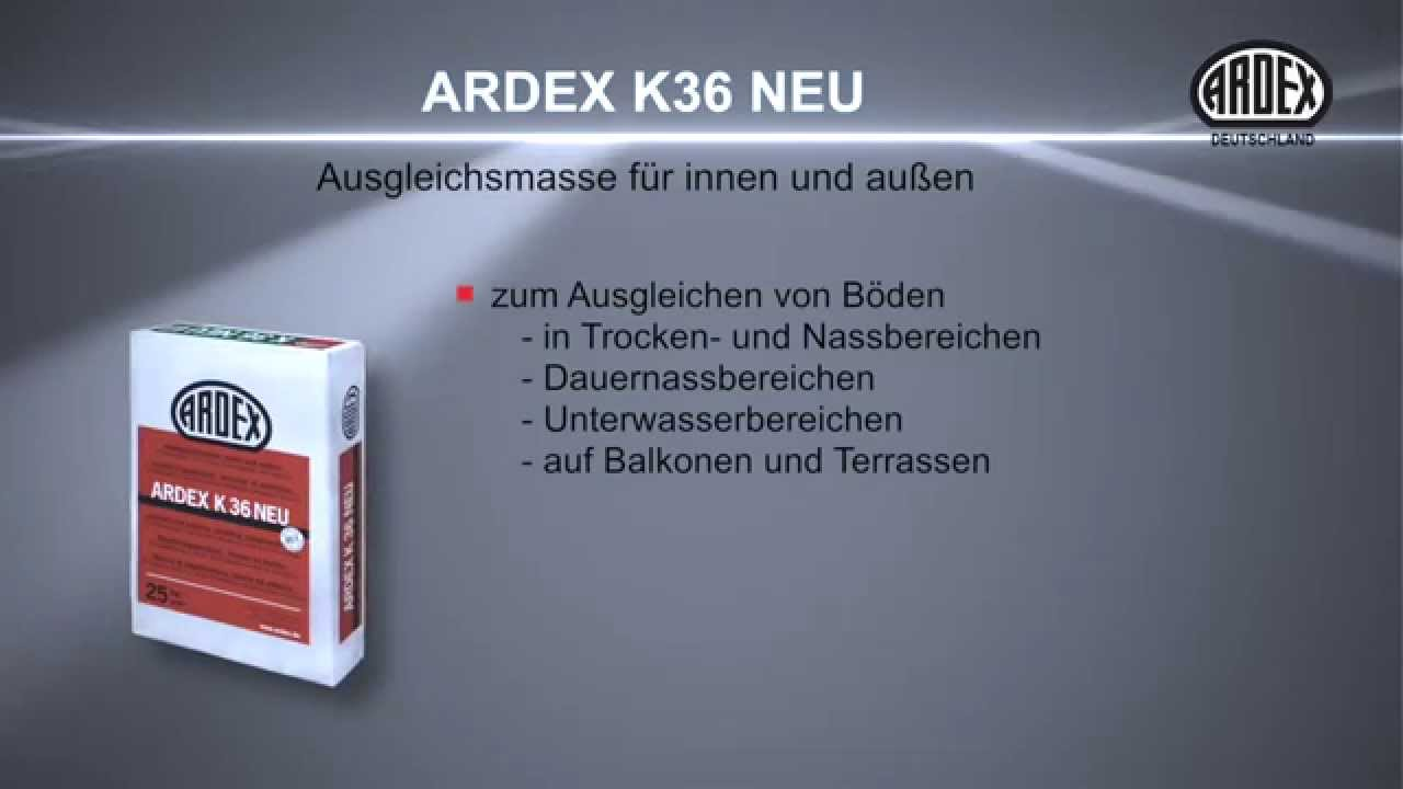 ardex k 36 neu ausgleichsmasse f r innen und au en youtube. Black Bedroom Furniture Sets. Home Design Ideas