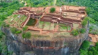 空撮 スリランカ 「シーギリヤ・ロック」 Aerial Shoot above Ancient City of Sigiriya in Sri Lanka