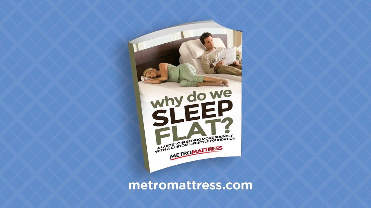 "Metro Mattress ""Why Sleep Flat"""