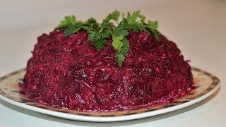 Полезный салат из свеклы с чесноком