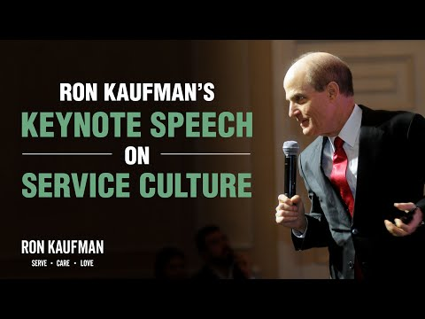 Keynote Speech by Ron Kaufman on Service Culture at Swiss Excellence Awards