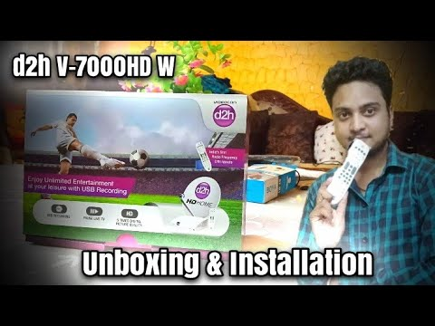 Videocon D2h V 7000HDW New Set Top Box Unboxing & Review 2019 | D2h 10th Anniversary |