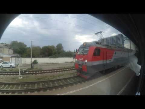 Лазаревская прибытие. Поезд 084С Адлер-Москва 18.08.2016