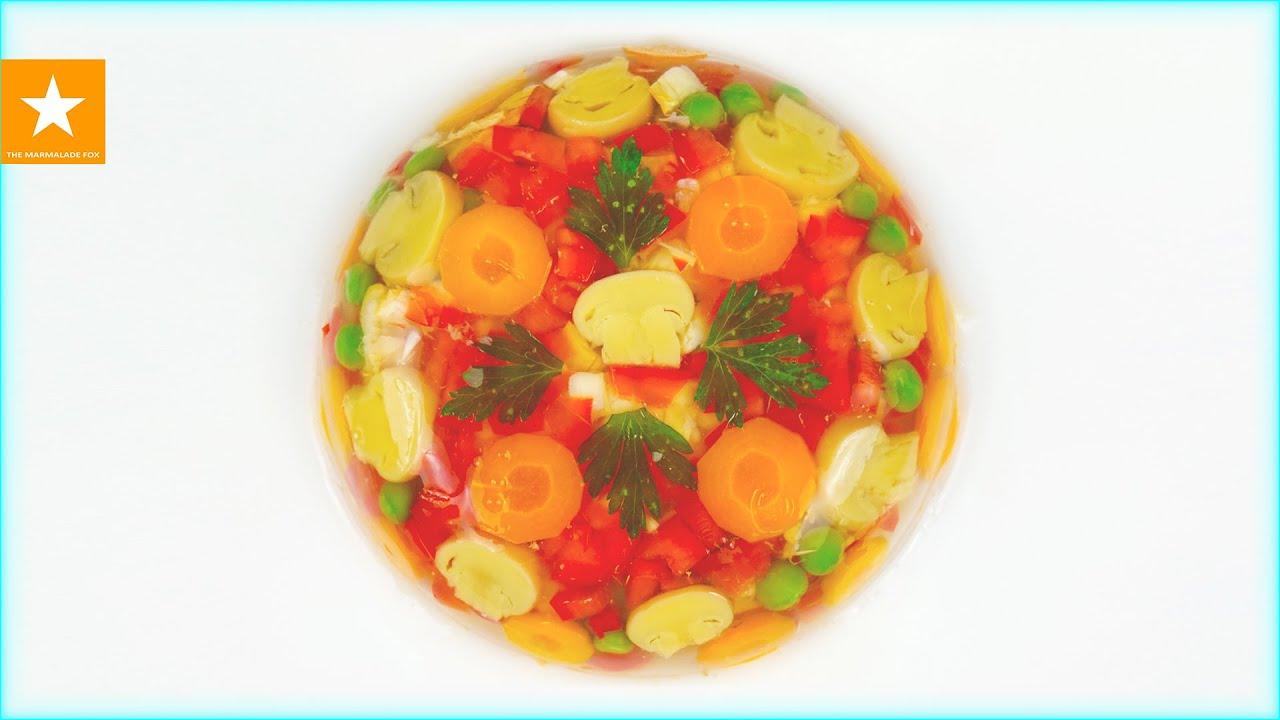 ВЕГЕТАРИАНСКИЙ ХОЛОДЕЦ - ОВОЩНОЕ ЗАЛИВНОЕ от Мармеладной Лисицы. Рецепт овощного бульона