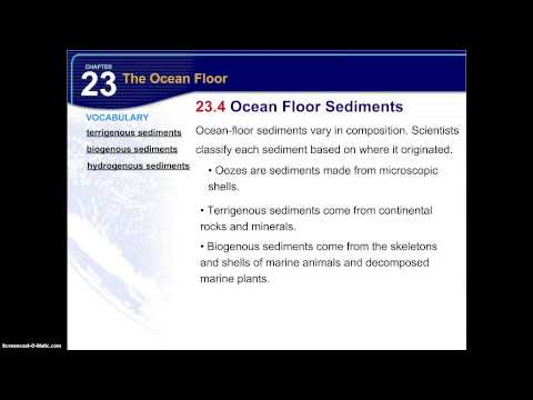 23.4 Ocean Floor Sediments