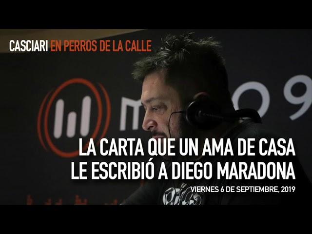 123 La carta que un ama de casa le escribió a Maradona