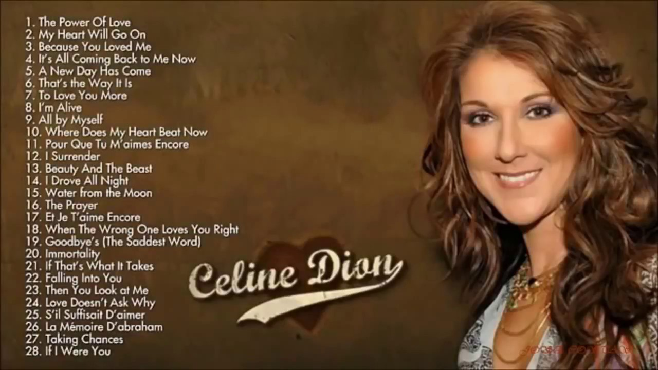celine dion best songs ever for 2018 youtube. Black Bedroom Furniture Sets. Home Design Ideas