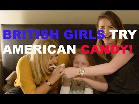 BRITISH GIRLS TASTE AMERICAN CANDY Ft Rachelxoxo & Phe!   Rosie Cole