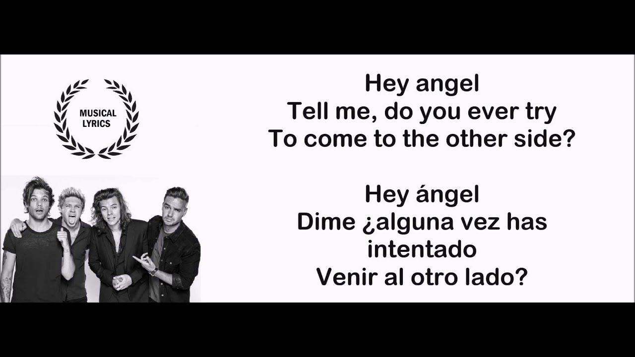 Hey Angel One Direction Sub Español Inglés Lyrics Letra Youtube