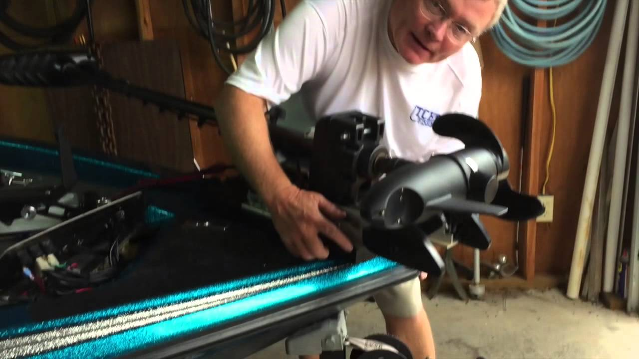 Trolling Motor Minn Kota >> Trolling Motor Plate Install - YouTube