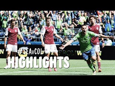 HIGHLIGHTS: Seattle Sounders vs Colorado Rapids   April 26, 2014