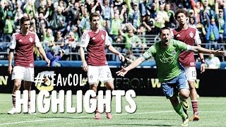 HIGHLIGHTS: Seattle Sounders vs Colorado Rapids | April 26, 2014