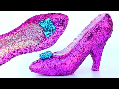 Thumbnail: DIY Super Sparkle Play Doh Hot Heels Disney Princess Shoes Modelling Clay Mighty Toys