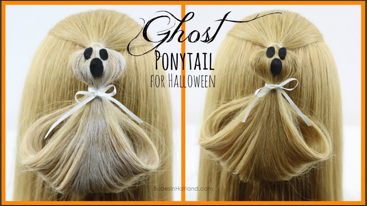 Ghost 👻 Ponytail | Halloween Hairstyle | BabesInHairland com