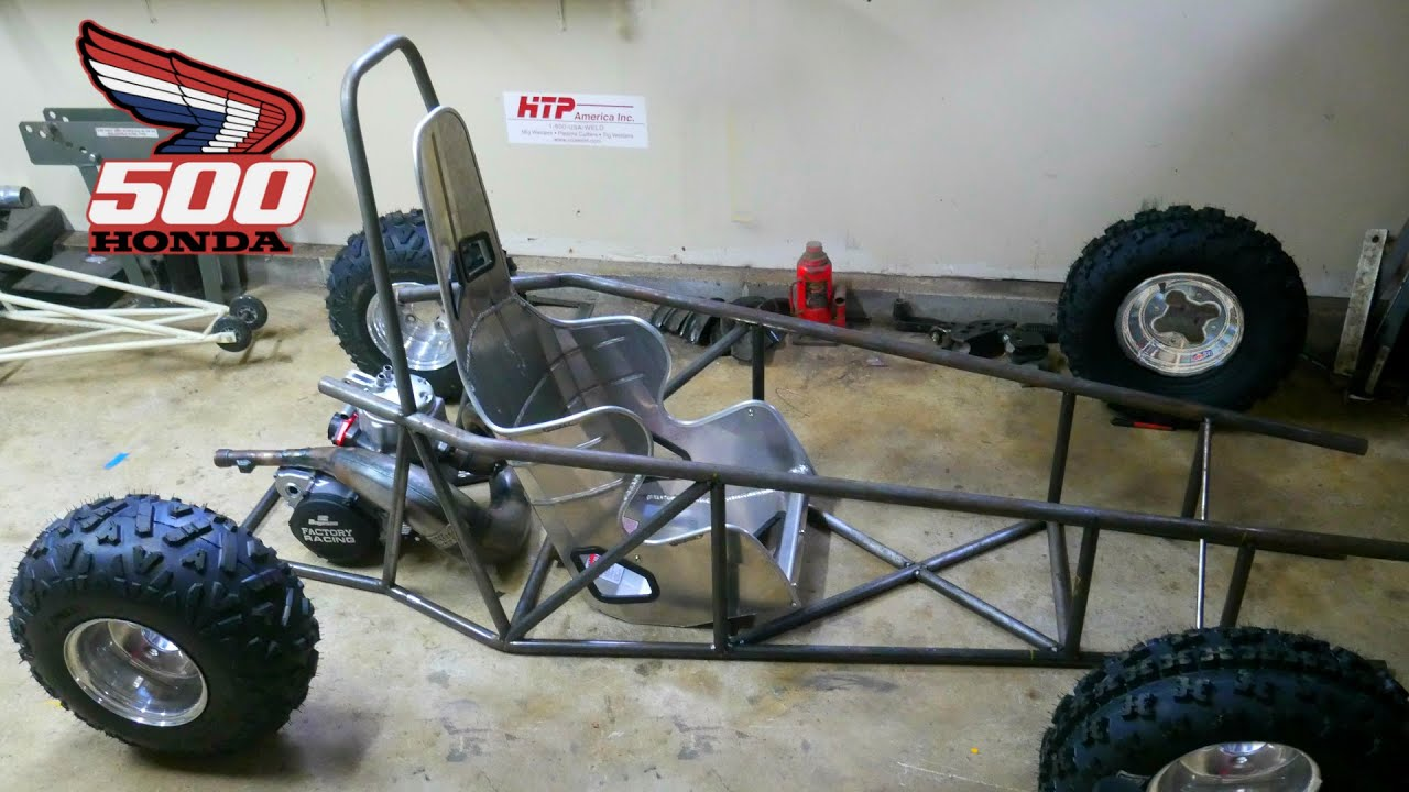 Cr500 ultralight 2 stroke Mini Crosskart Build Part 2!