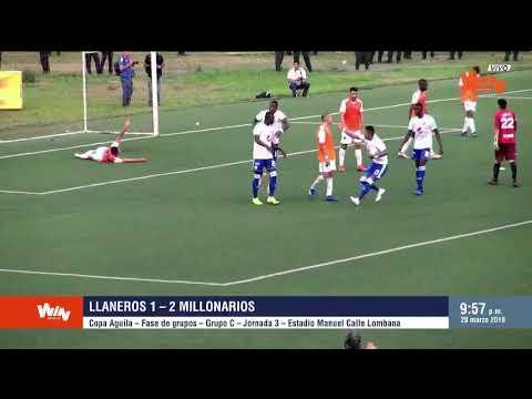 Llaneros vs Millonarios (1-2) | Copa Aguila 2019 | Fecha 3