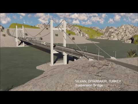 SILVAN,DIYARBAKIR,TURKEY Suspension Bridge