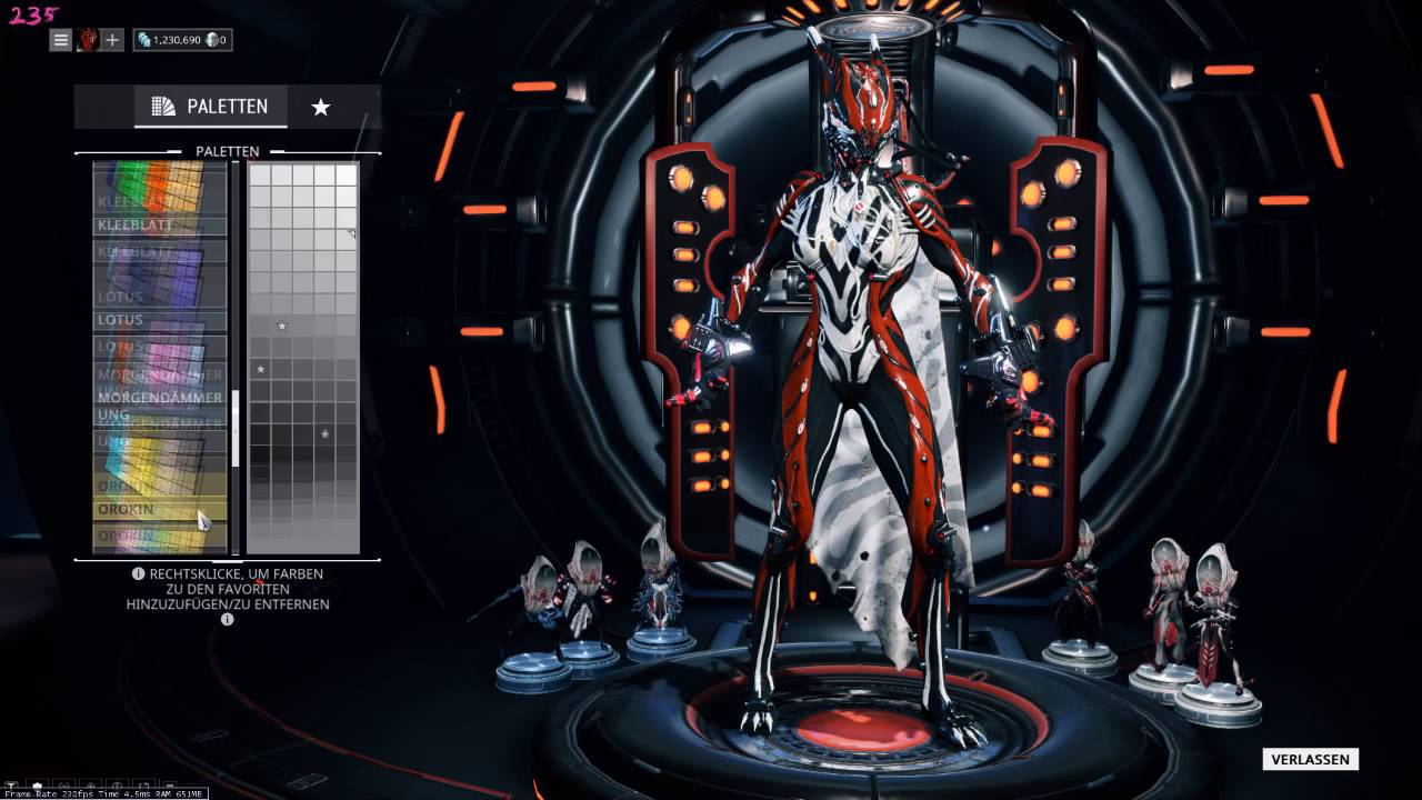 Warframe Stalker And Acolytes Color Schemes