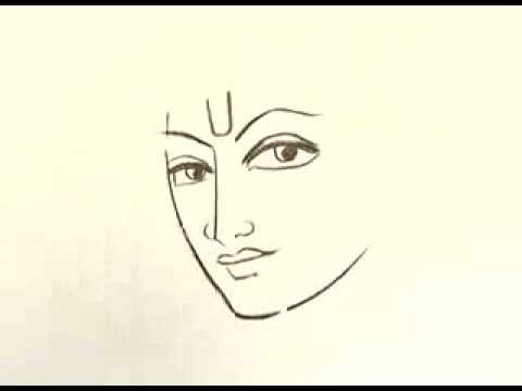 Bhagwan Krishna Drawing Art Beautiful Sketch Drawn By An Artist