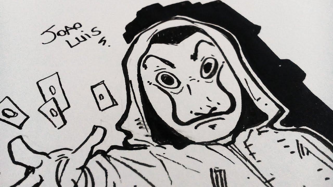 L 225 Casa De Papel Desenhando Personagem No Estilo Chibi Netflix Speedrawing Youtube