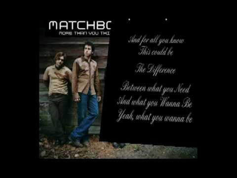 Matchbox Twenty - The Difference - Lyrics Video
