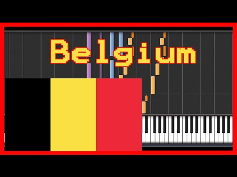 """Belgium "" National anthem {easy piano tutorial}-(Synthesia) HD"