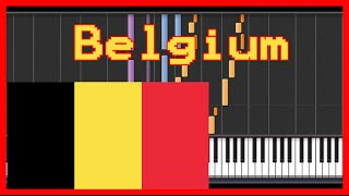 belgium national anthem easy piano tutorial synthesia hd