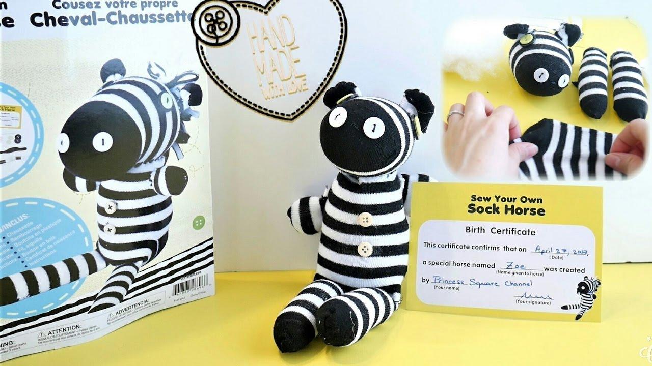 Diy Animal Stuffed Plush Using Socks Sew Your Own Sock Horse Youtube