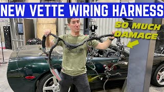 RATS Destroyed The Wiring Harness On My $5,000 CORVETTE *So Many Chewed Wires*