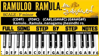 Telugu Songs Piano Notes Free MP3 Song Download 320 Kbps