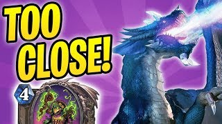 Cutting it TOO CLOSE! | OTK MALYGOS ROGUE | The Witchwood | Hearthstone