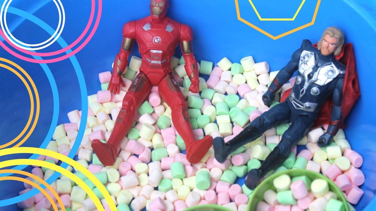 MARVEL Iron Man VS. Thor Bath Time! The Avengers Superheroes with ...
