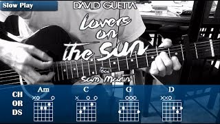 "David Guetta - ""Lovers On The Sun"" How to Play on Guitar 