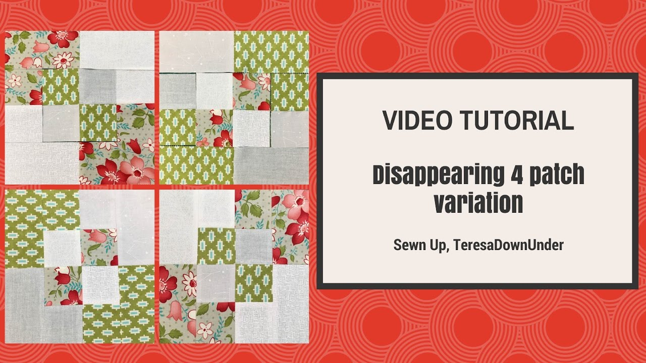 Video tutorial: 2-minute disappearing 4 patch quilt block ... : disappearing 4 patch quilt block - Adamdwight.com