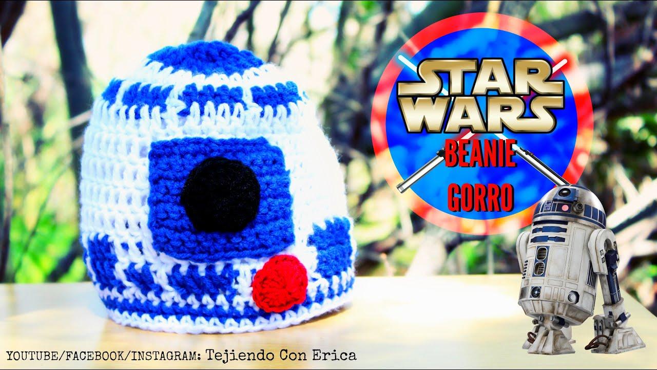 Gorro De Star Wars R2d2 Crochet Tutorial Tejiendo Con Erica Youtube
