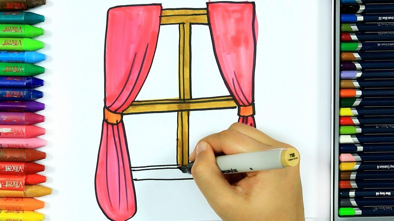 Wie Zeichnet Man Vorhang Ausmalen Kinder Hd Kindervideos