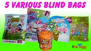 5 blind bags the trash pack moshi monsters littlest petshop yoohoo polly pocket unboxing opening