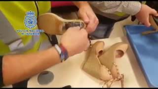 Incautación de billetes de 500€ en tacones de zapatos