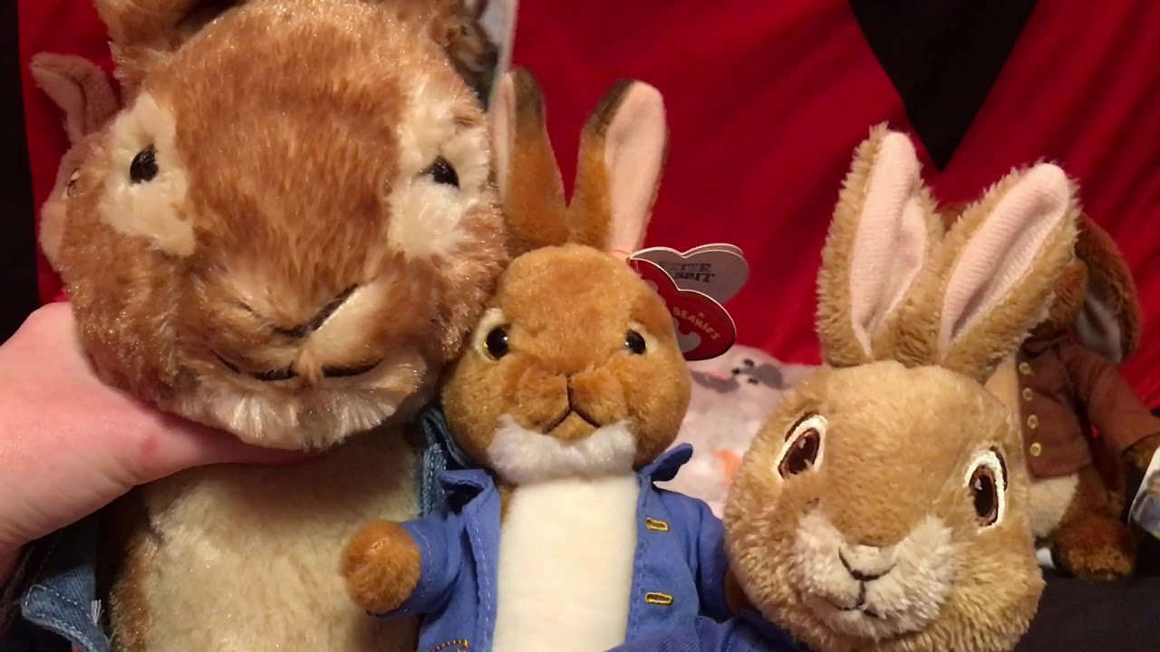 193c7ec0837 Peter Rabbit Ty Beanie Babies Movie Plush 2018 - YouTube