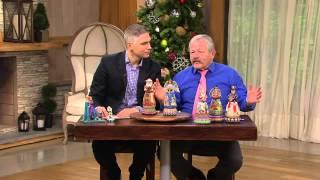 Jim Shore Heartwood Creek Rotating Musical Santa Figurine With Alberti Popaj