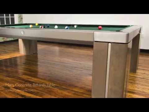 Modern Pool Tables By Mars Made   YouTube