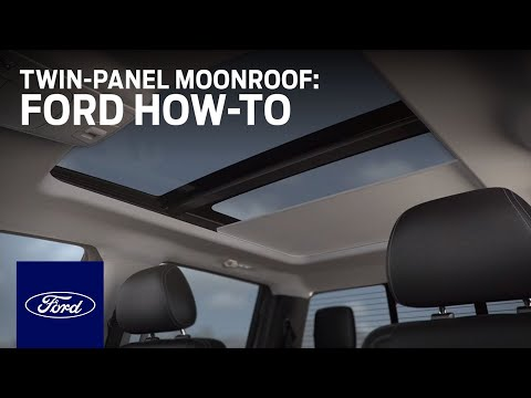 TwinPanel Moonroof | Ford HowTo | Ford  YouTube