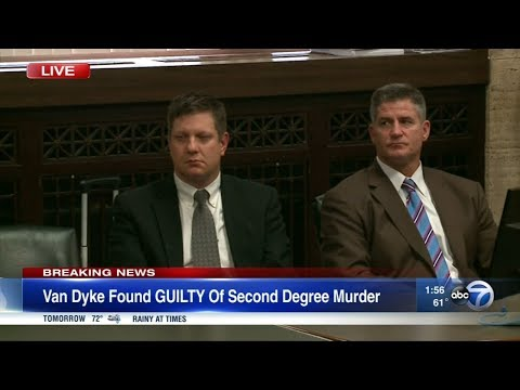 Jason Van Dyke found guilty of 2nd degree murder, 16 counts of aggravated battery