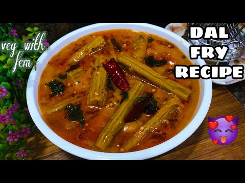 होटल जैसी दाल फ्राई तड़का -Dal Tadka Punjabi Style   Authentic Dal Fry Restaurant Style-Veg With Fem